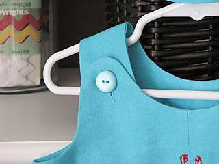 Baby boy gift blue linen 02