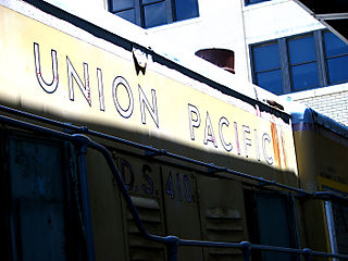 Union Pacific yellow car
