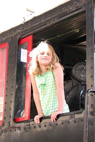 B on the old locomotive