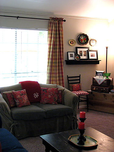 View of living room corner new drapes edit 1