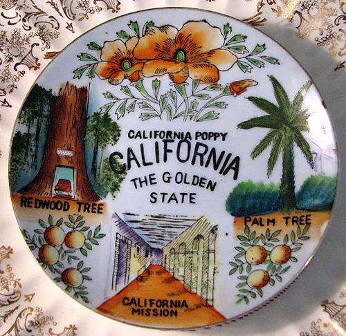 California state plate
