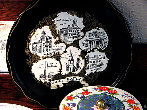 Boston tin colllector plate