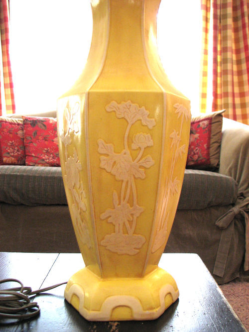 Thrifted yellow lamp 1